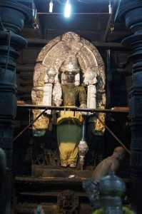 Vishnu is normally not visible to the laymen and was only unveiled for us.