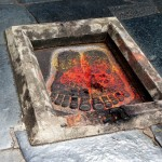 The temple is dedicated to Chennakeshava, meaning handsome Vishnu. Here his footprints.