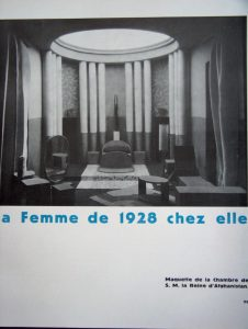 Model of the bedroom for the Queen of Afghanistan, DIM, Ce Temps-ci 2 (1928).