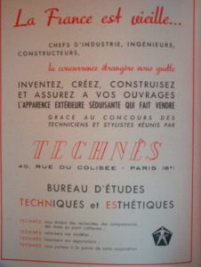 Advertisement for Technès, Art présent, 7-8 (1948).