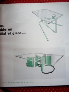 Projects for metal and glass tables by DIM, Ce Temps-ci 7 (1930).