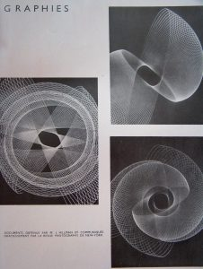 """Physiographies"", document coming from the revue Photography, (New York), Esthétique industrielle 3, (1951)."
