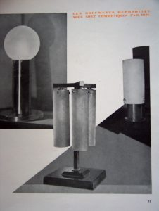 "Lamps by Le Chevalier, Ce Temps-ci, "" (1928)."