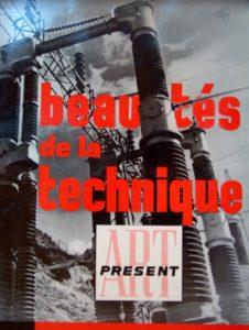 """""""Les Beautés de la technique"""", cover page, Art présent 7-8 (1948)."""