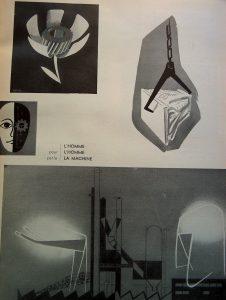 Pages extraites du rapport du Congrès de l'Esthétique industrielle, Paris, 1953, Recherches de Mattioli, J. Fouquet, P.Vago et Roger Tallon