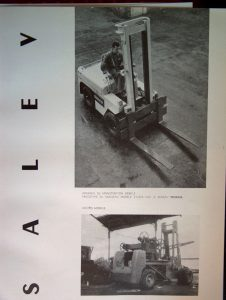 Esthétique industrielle 14, Apparatus for mobile handling and moving of materials, Technès for the Salev Company.