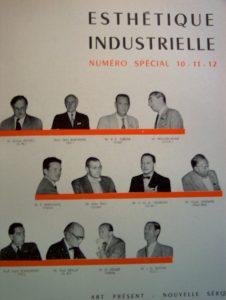 Couverture d'Esthétique industrielle, n° 10-11-12 Numéro spécial consacré au Congrès de l'Esthétique industrielle, Paris 1953