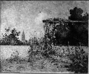Jardin de Kervaudu - h/t - 0, 60 x 0,73 - signé en bas à gauche - coll. part.