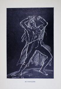 """Henry de Waroquier, étude pour """"La tragédie"""", Foyer du théâtre du Palais de Chaillot."""