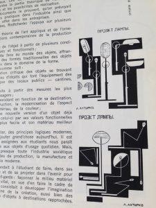 Projets de lampes transformables, reproduction p. 45 de la revue Démocratie nouvelle n° 2