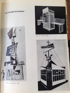 Exemples de kiosques, photo page 53 de la revue Démocratie nouvelle n° 2