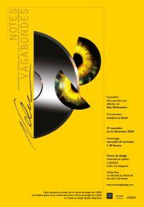 Affiche de l'exposition Notes vagabondes, Métaphores et mémoire dans les affiches de Nelu Wolfensohn