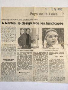 1ers prix obtenus par les étudiants : Bertrand Letourneur, 3ème prix Handitec et Perrine Henry, Janus de l'étudiant