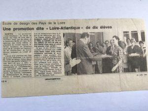 Première promotion diplômée de l'École de design des Pays de la Loire, 20 juin 1989