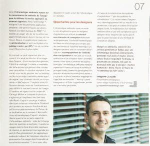 L'informatique ambiante : nouveaux défis pour le design - Article de Grégoire Cliquet DY 28 - mars 2007
