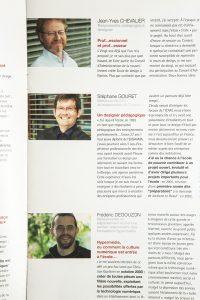 Jean-Yves Chevalier, (designer enseignant) Stéphane Gouret et Frédéric Degouzon DY 31 édition spéciale 20 ans - juin 2008