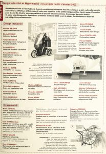 Design industriel et Hypermedi@ : les projets de fin d'études 2003 DY 16 - mars 2003