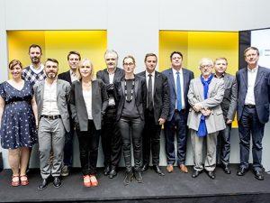 Inauguration de la chaire Action Publique Innovante - 17 mars 2017 Harmonie mutuelle, département de Loire-Atlantique, Nantes Métropole, SGAR des Pays de la Loire et L'École de design Nantes Atlantique