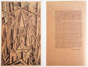 Manifeste de Gropius et gravure de L. Feininger. Bauhaus Könemann, 1999, p. 180