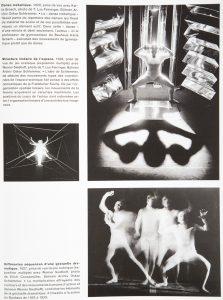 Danse métallique 1929 et structure linéaire de l'espace. Photos de T. Lux Feininger. Bauhaus Könemann, p. 541