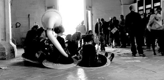 Artistes, musiciens farfelus qui ont pris possession de la Chapelle l'espace d'un instant.