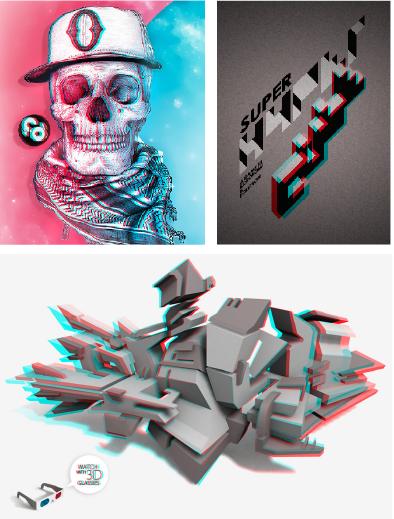 Retro Skull par fdedition / Super Hypercube par Arnaud Bédard / 3D Sculpt par Sylvain Ollier